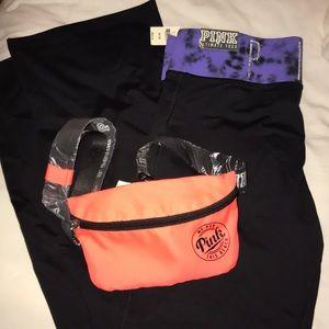 VS Pink Yoga Pants Leggings & Fanny Pack Bundle
